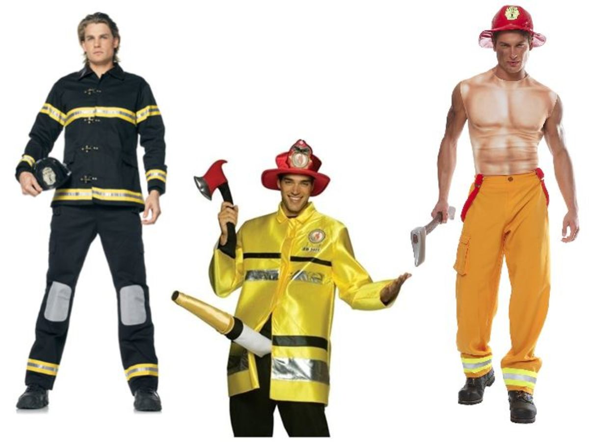 Men Firefighter Halloween Costume