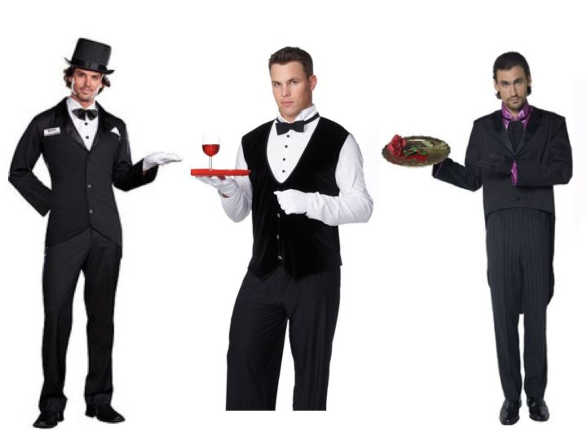 Male butler costumes