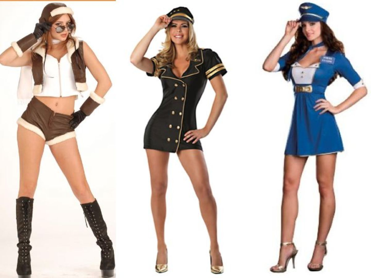 Women Pilot Halloween Costumes
