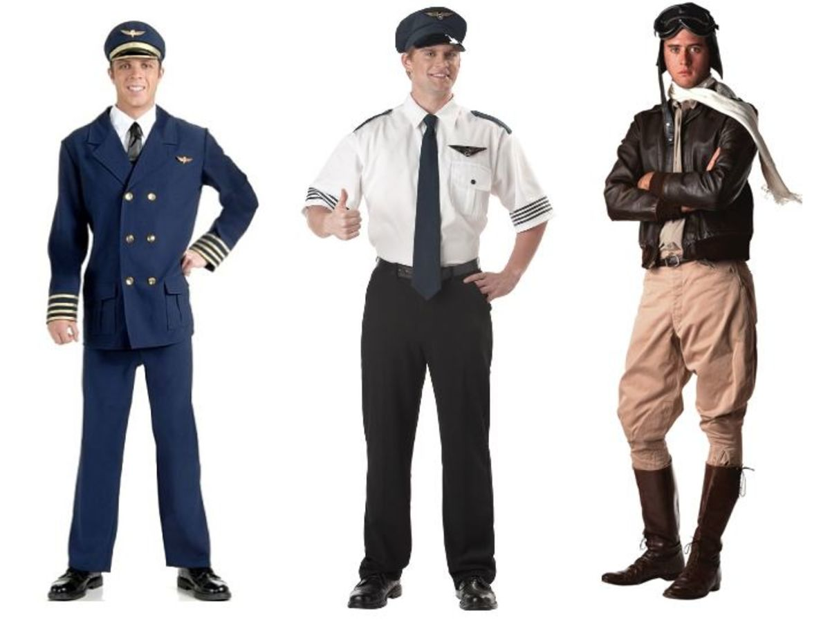Male pilot costumes