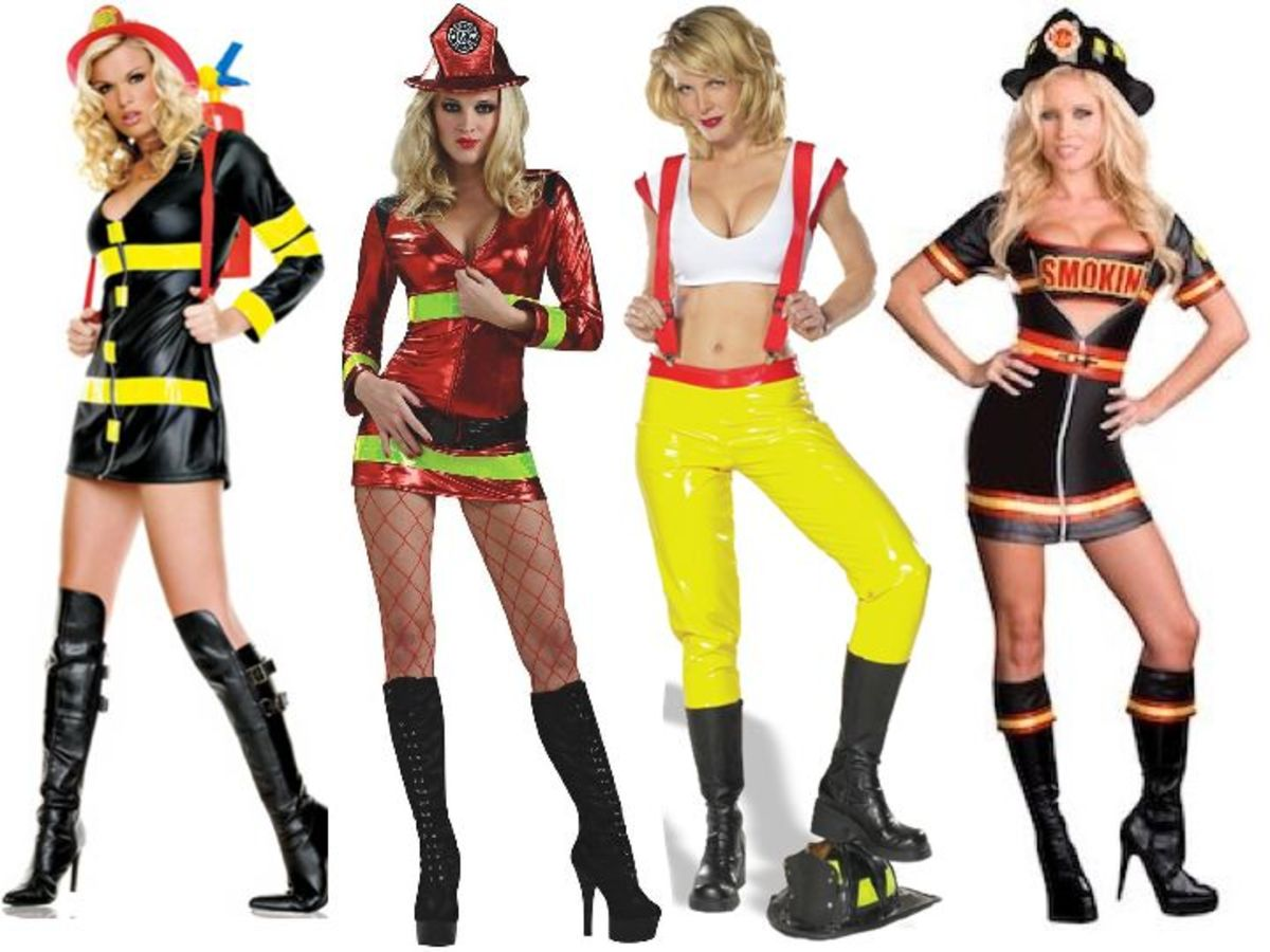 Female firefighter costumes