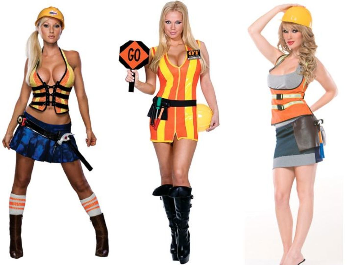 Female construction worker costumes