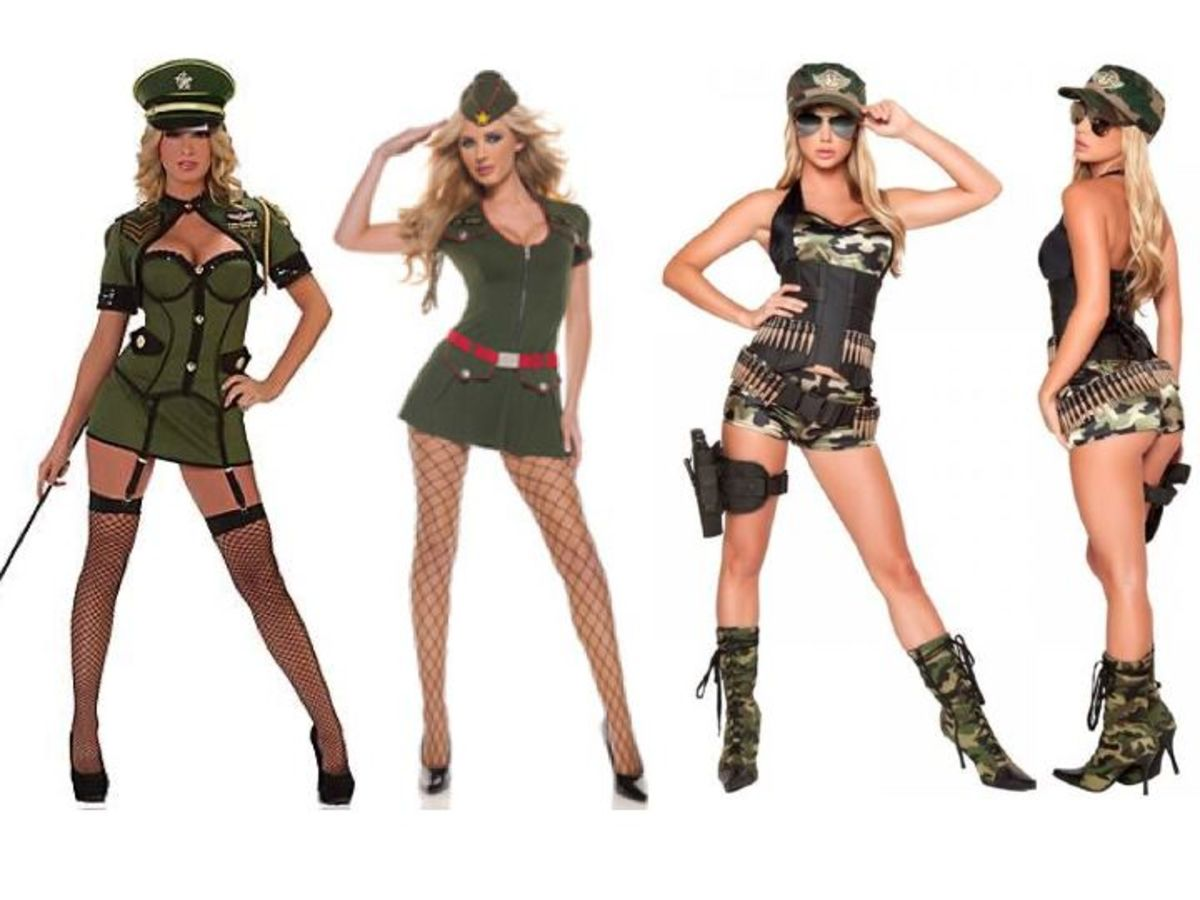 Female military costumes