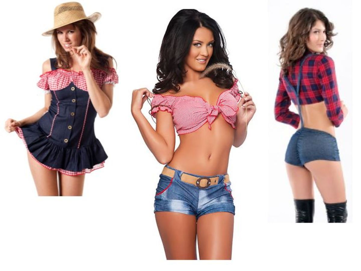Women Farmer Halloween Costumes