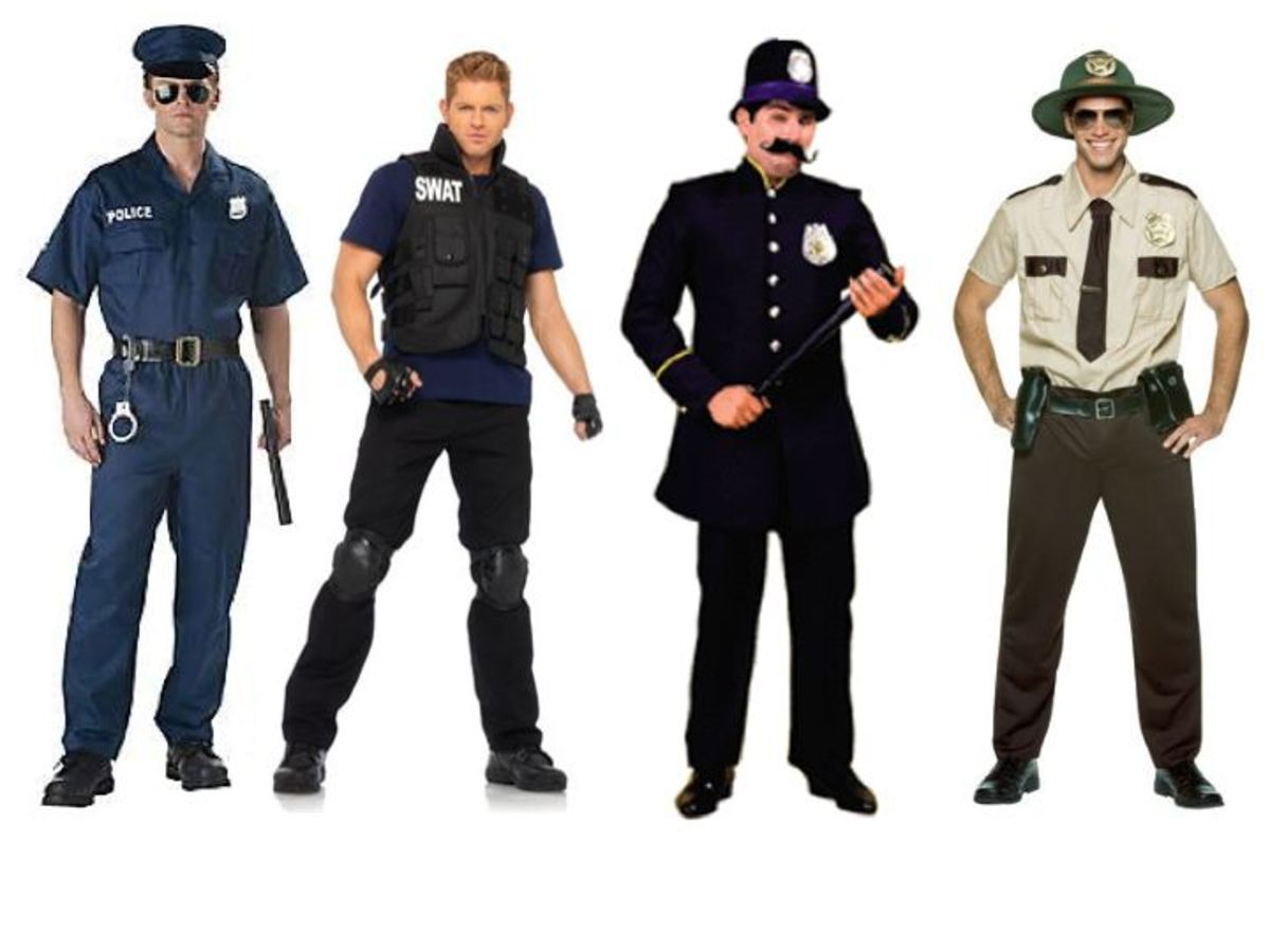 Male police officer costumes
