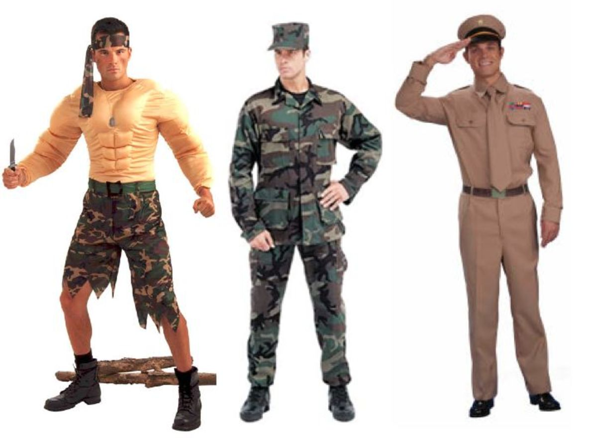 Male military costumes
