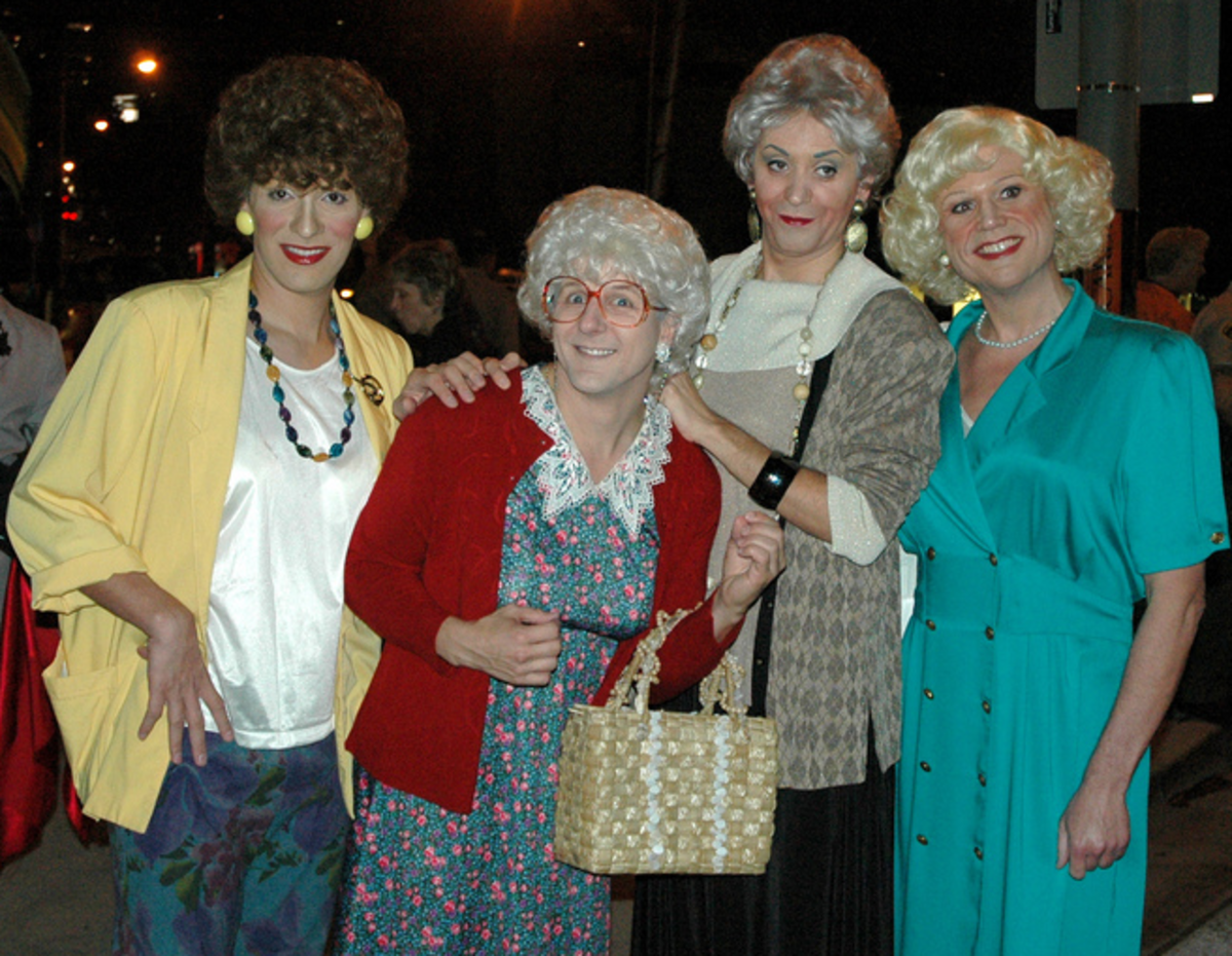 Just some golden gals out on the town!