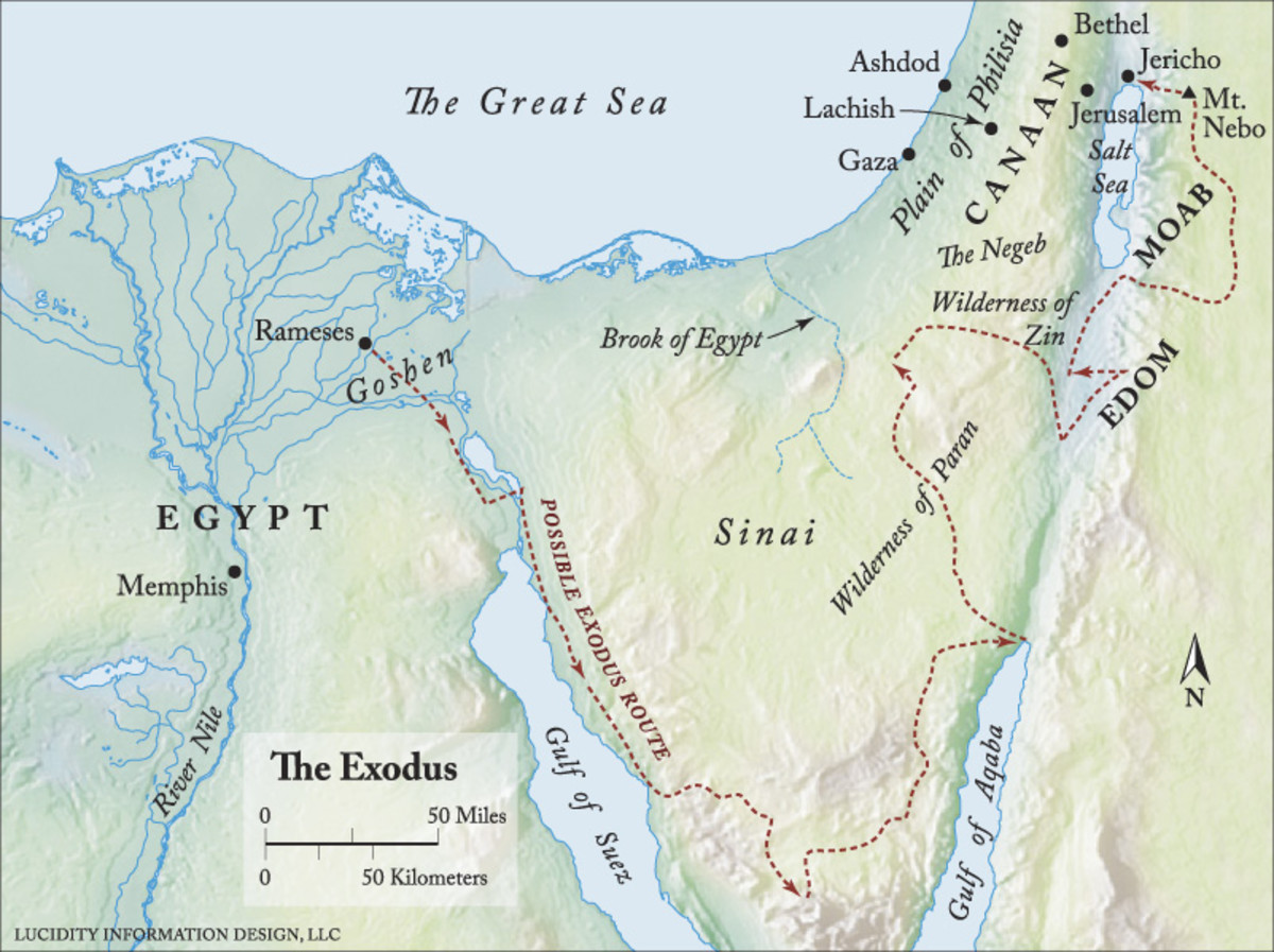 Possible Exodus route