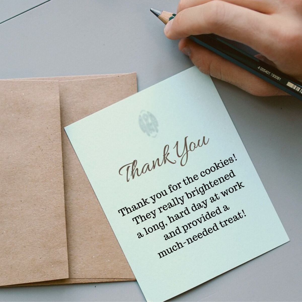 Highlight the kindness behind a small gift in your thank you note.