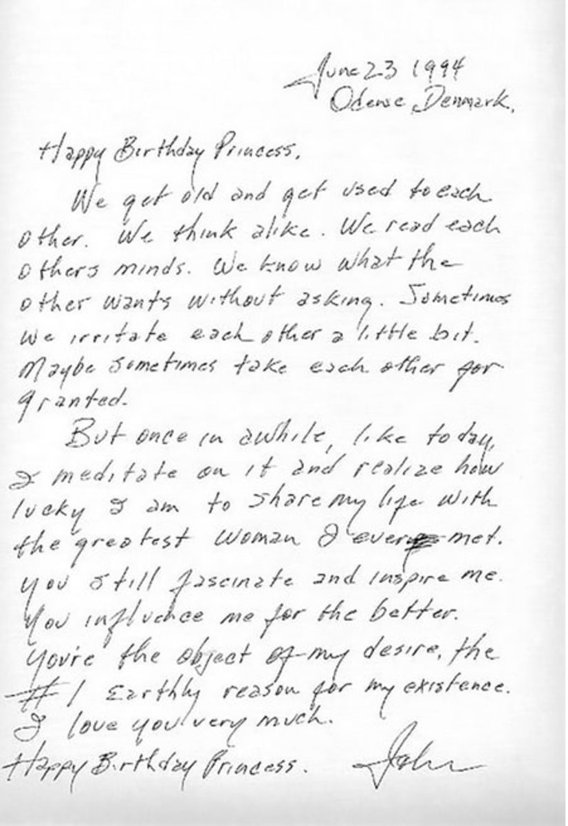 A handwritten letter by Johnny Cash
