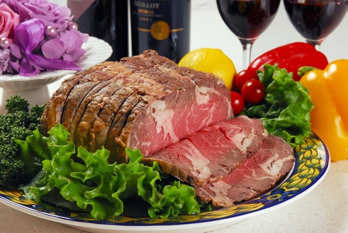 A nice roast makes quite a feast!