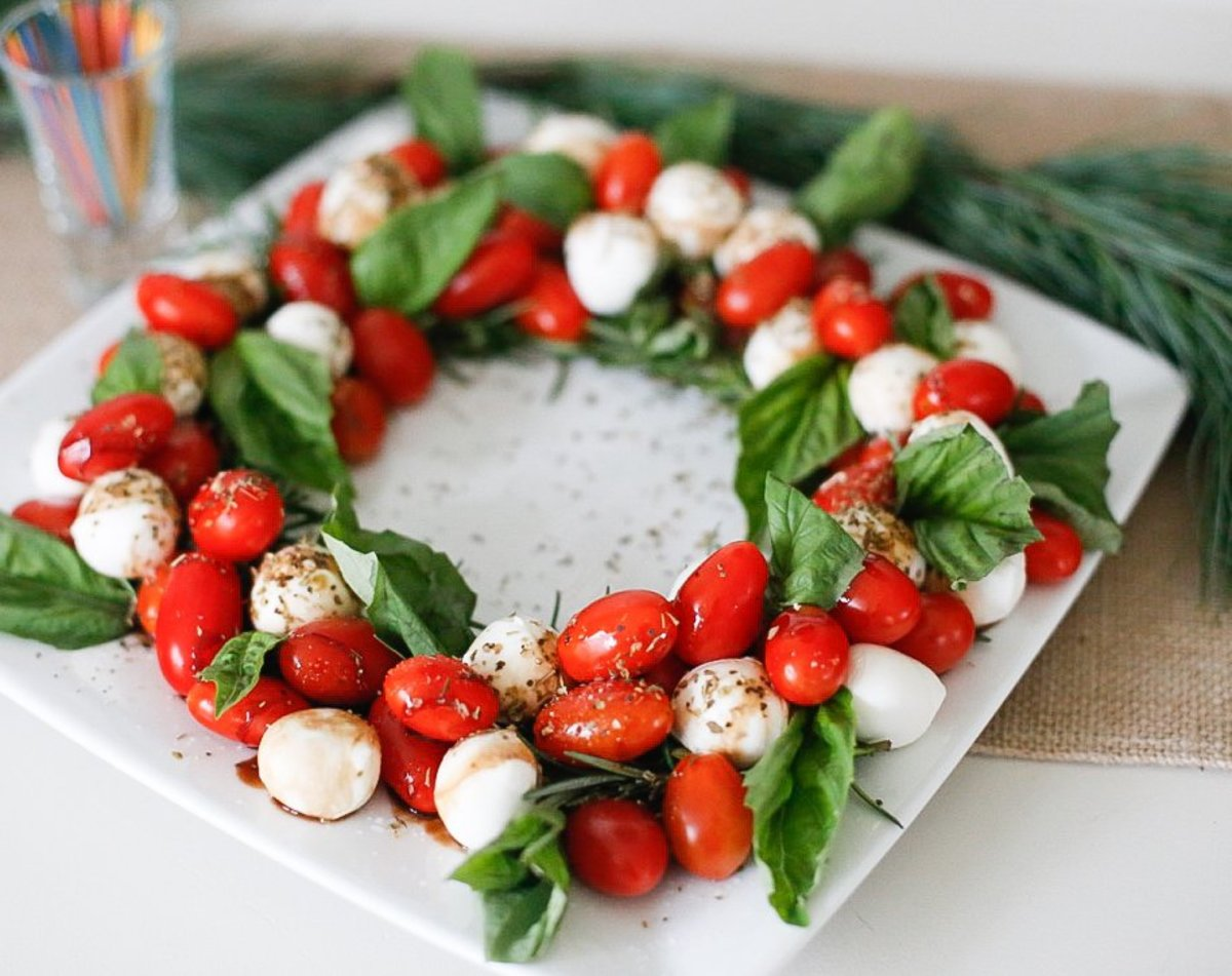 The beautiful red and green colors in this salad are perfect for a Christmas dinner.