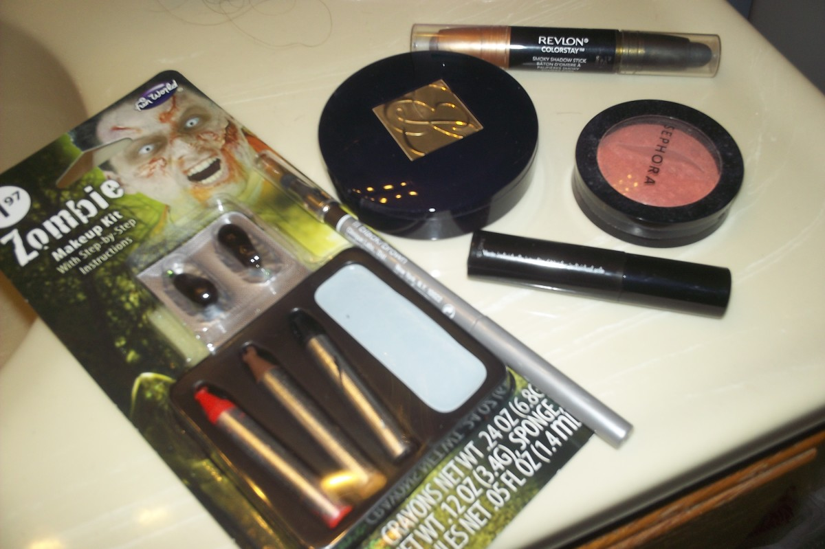A cheap makeup kit should be more than sufficient.