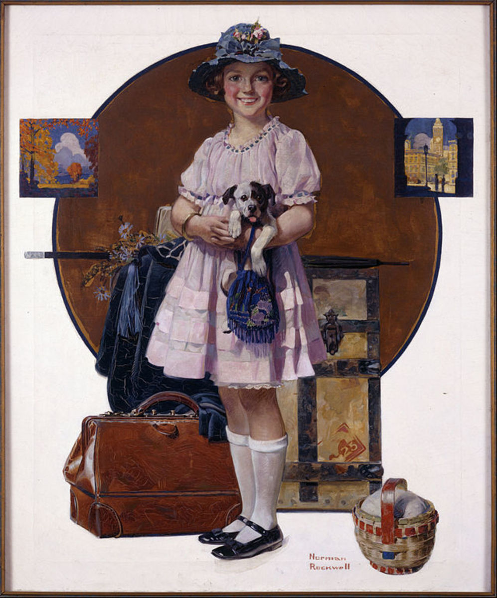 Norman Rockwell painting at Google Cultural Institute