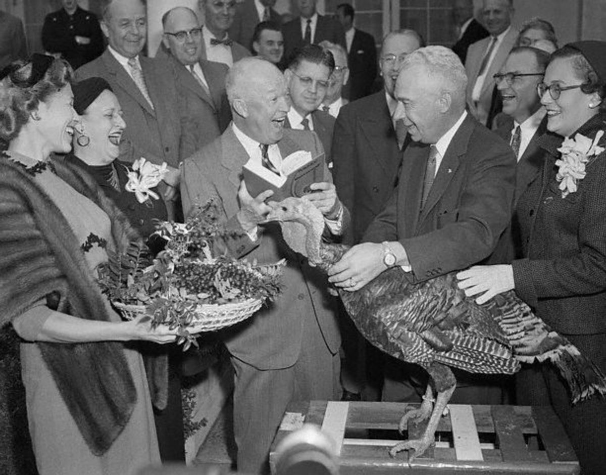 President Eisenhower pardoned this turkey during his presidency.