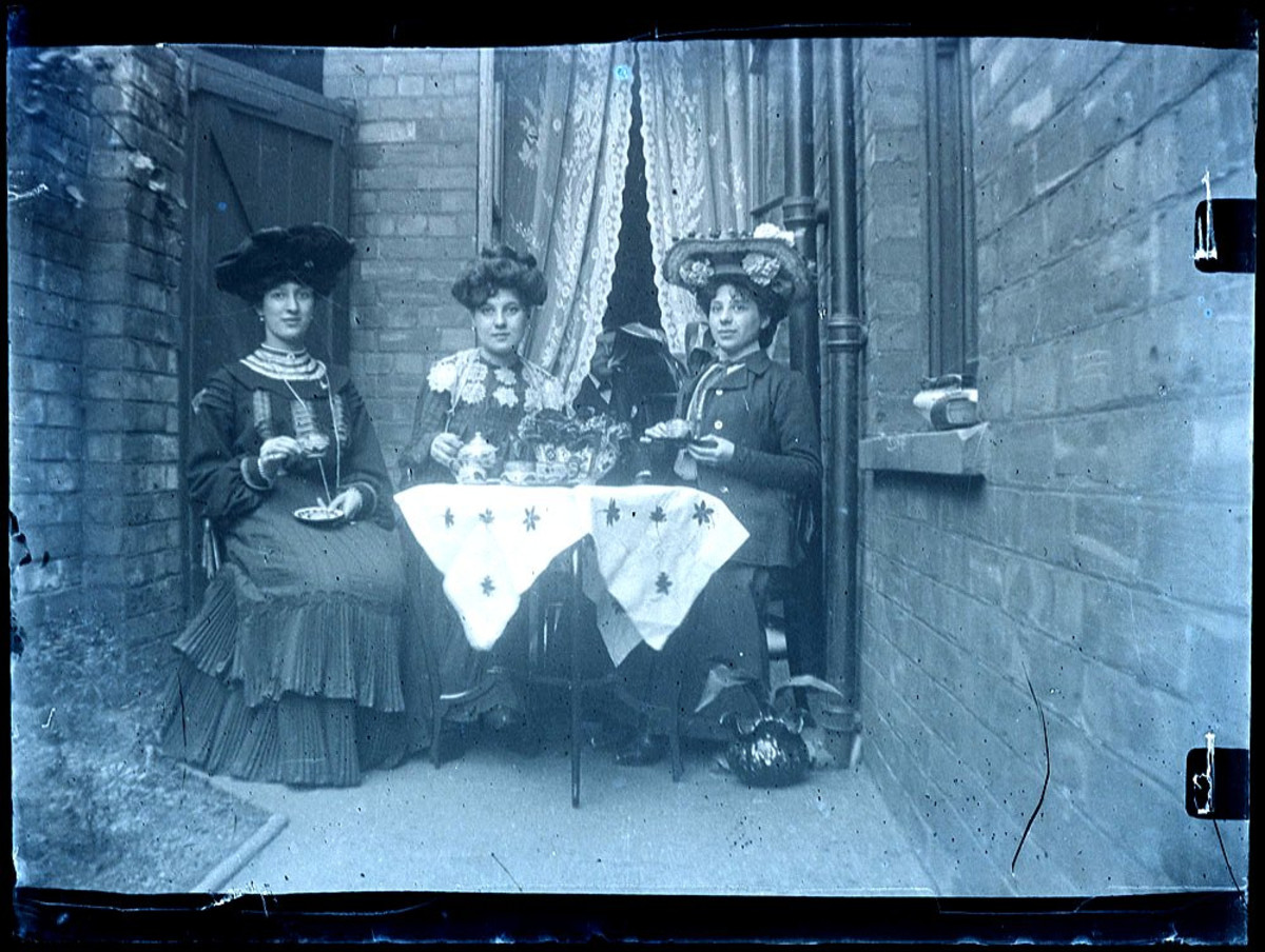 A real photograph of a Victorian Tea Party from the 1800s!