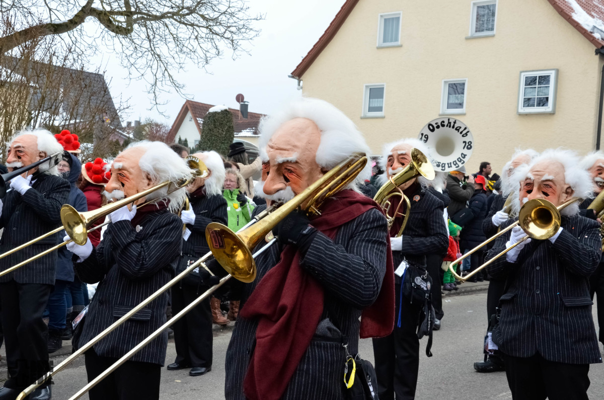 These trombone players are dressed as Albert Einstein, who shares a birthday with National Pi day, March 14.  Dress as the famous mathematician to honor them both.