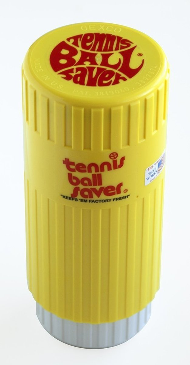 The original Tennis Ball Saver is excellent for keeping balls fresh and bouncy.  Usually balls will begin to lose their bounce as soon as their pressurized container is opened, but the ball saver can preserve them for much longer.  Holds 3 balls.