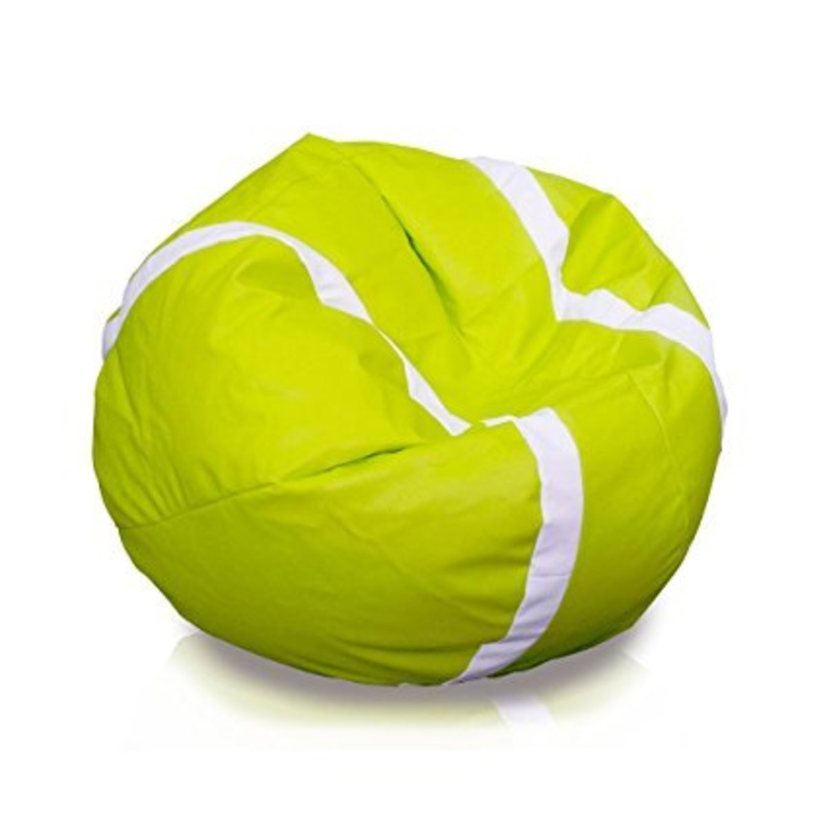 Tennis bean bag chair. Such a cool idea and great for the rooms of younger tennis players. A great gift that provides comfortable and stylish seating.