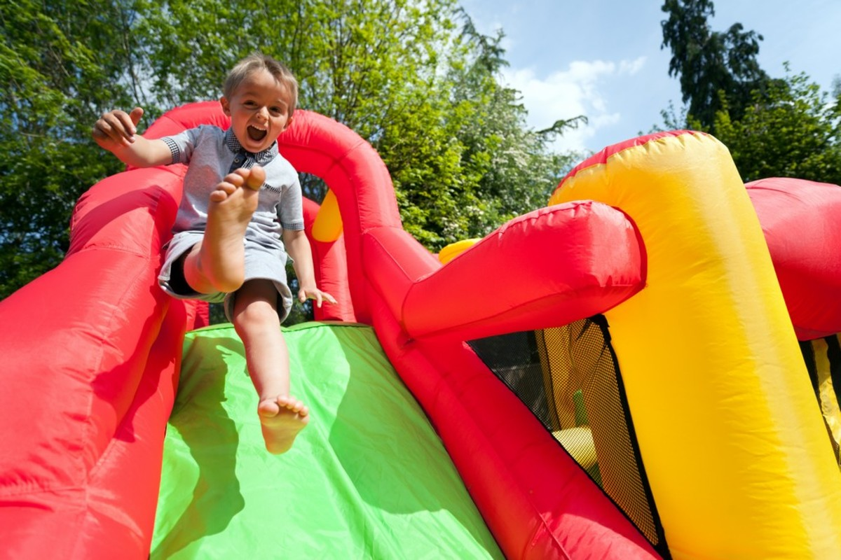 Inflatable slides can definitely bring joy to all ages.