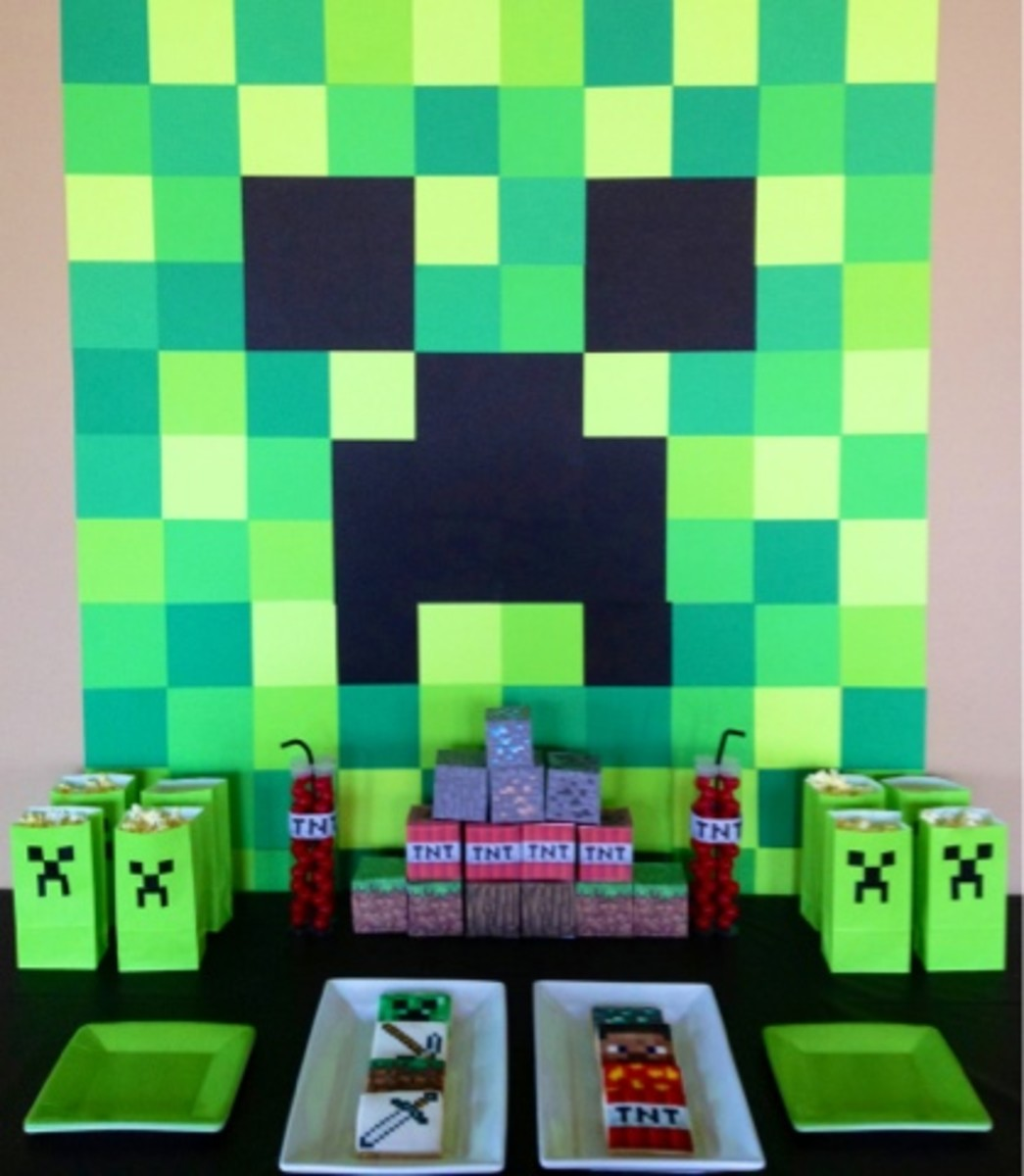 Minecraft party table