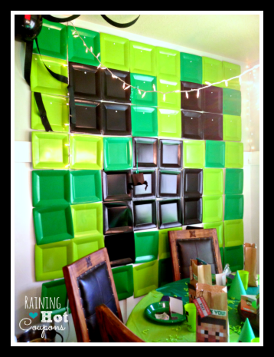 Minecraft 'plastic tray' wall