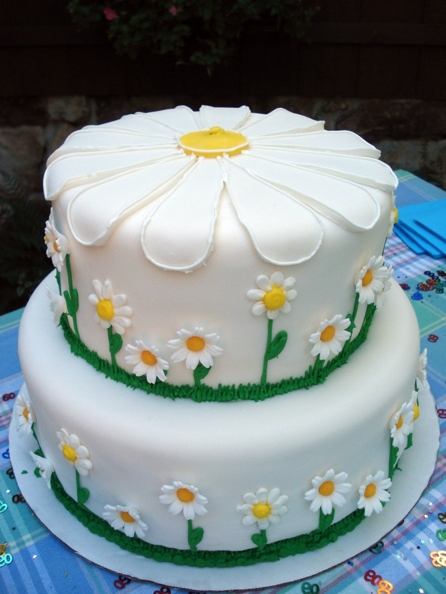 Beautiful White Birthday Cake For Adults
