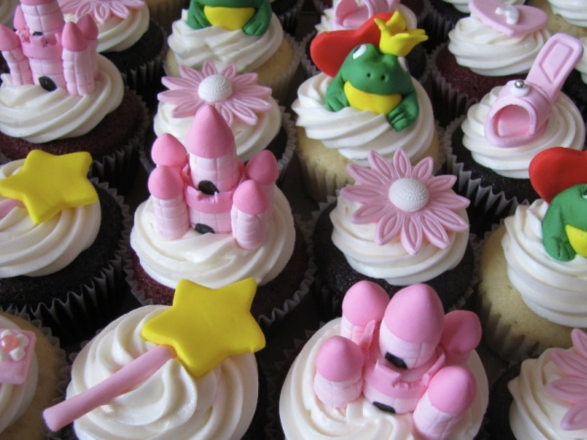 pink birthday cupcakes for girls