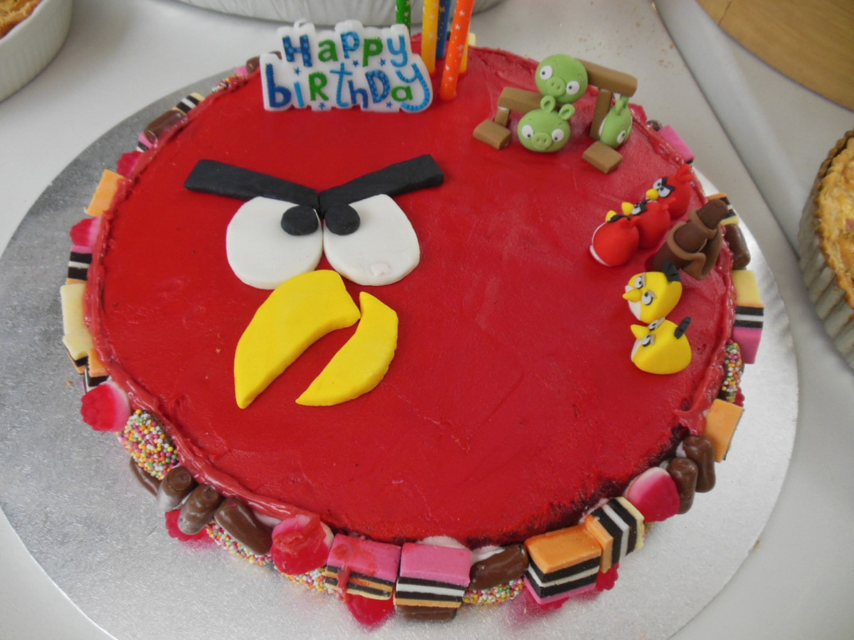 Angry Birds cake for kids.
