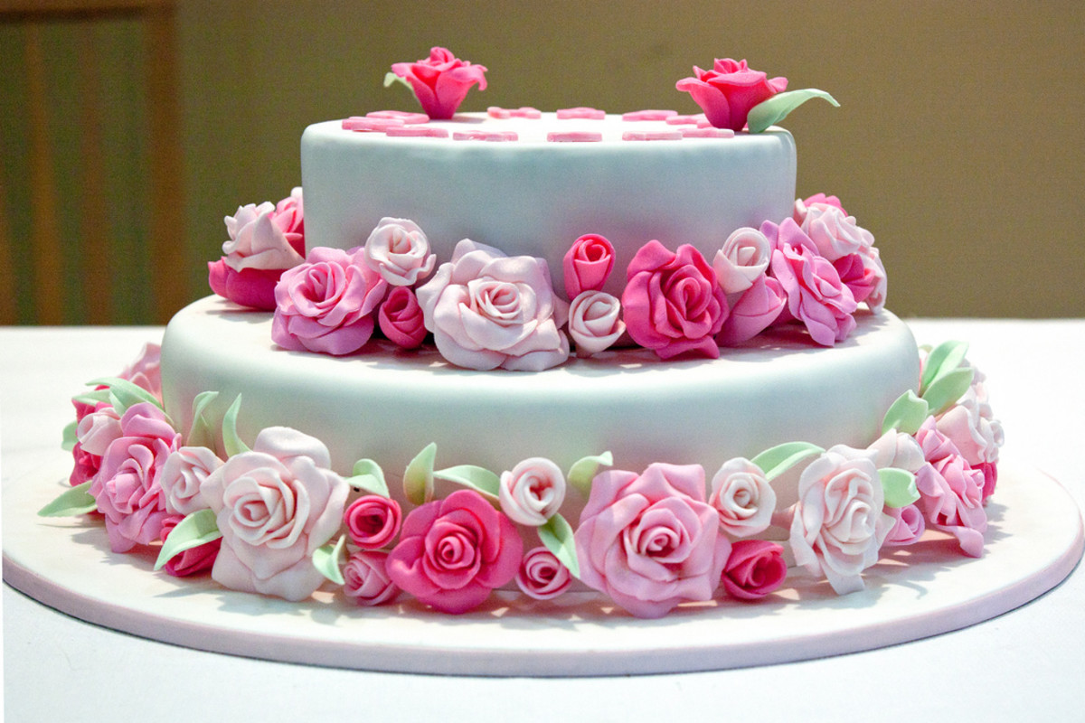Pink Rose Birthday Cake