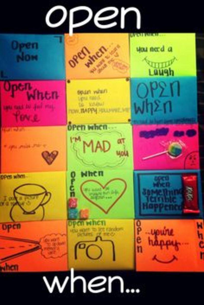 Open When Envelopes   Easy DIY Anniversary Gift Ideas for Him