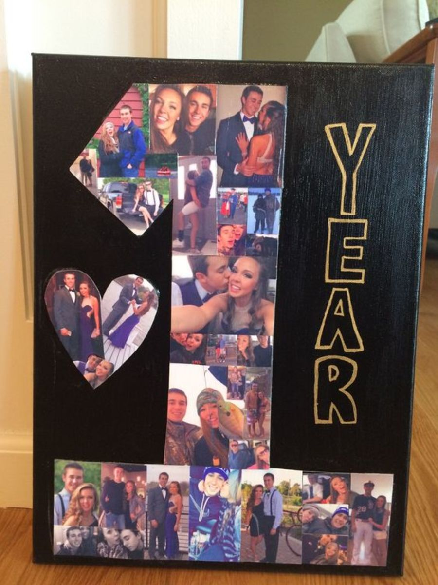Diy anniversary gifts for him holidappy number photo collage easy diy anniversary gift ideas for him negle
