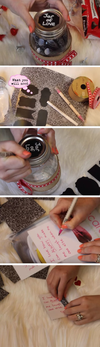Jar of Love | Easy DIY Anniversary Gift Ideas for Him