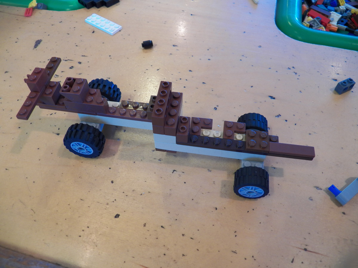 Kids can be very creative with any parts they want as long at their wheels still roll! Everyone needs four wheels and an axle.