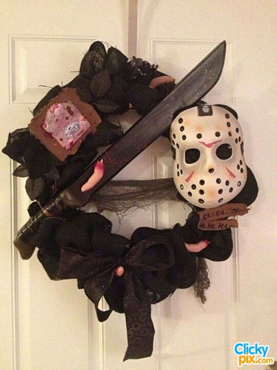Friday the 13th-inspired wreath