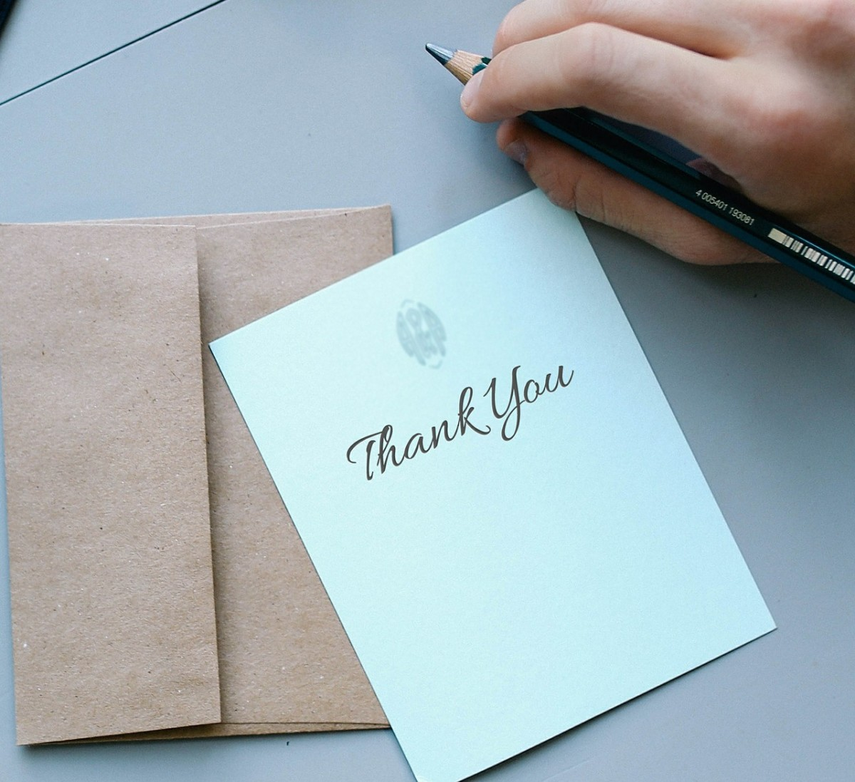 Sending a thank you card when someone does something nice for you is essential. Sending one, out of the blue and 'just because' is especially nice.