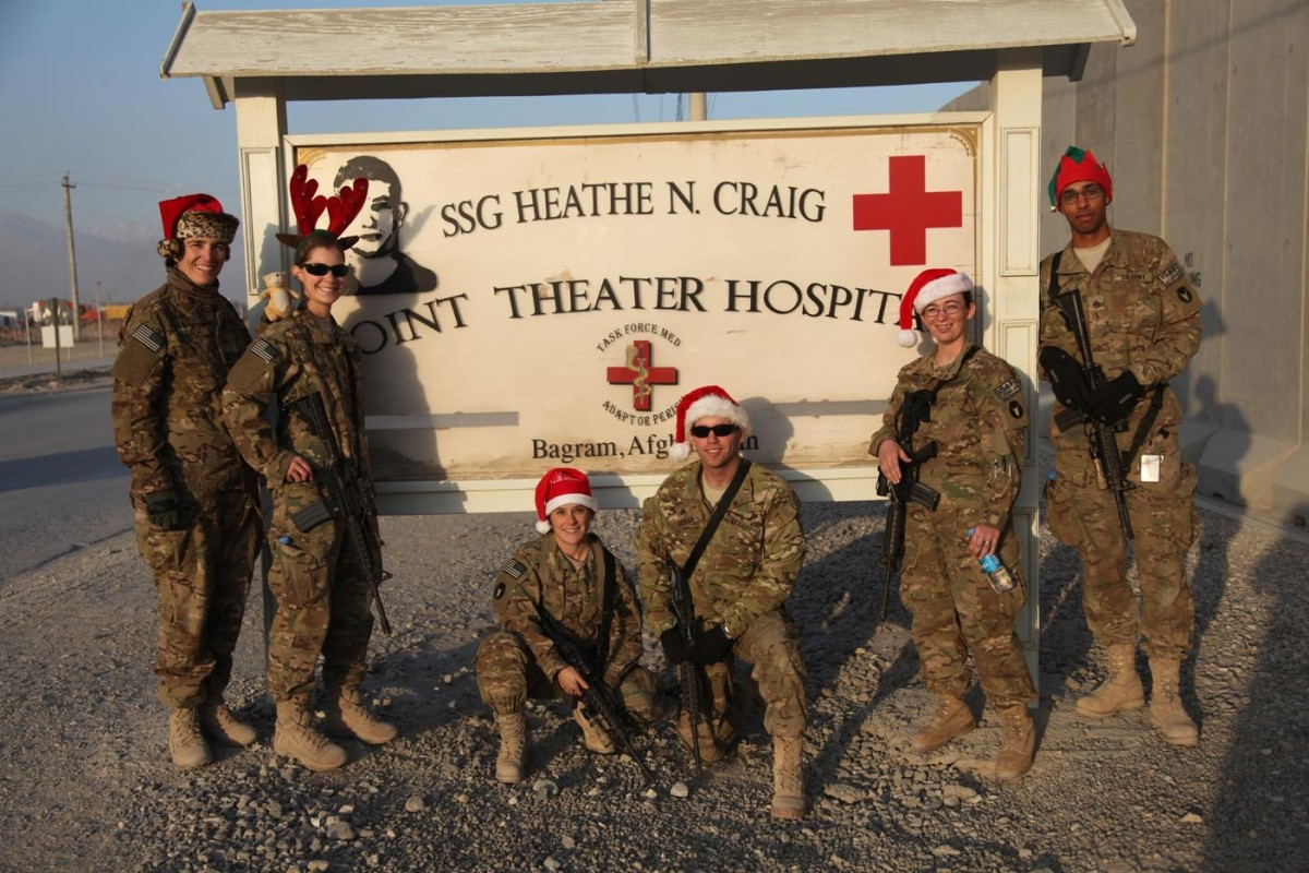 Soldiers get in the Christmas spirit even while deployed overseas