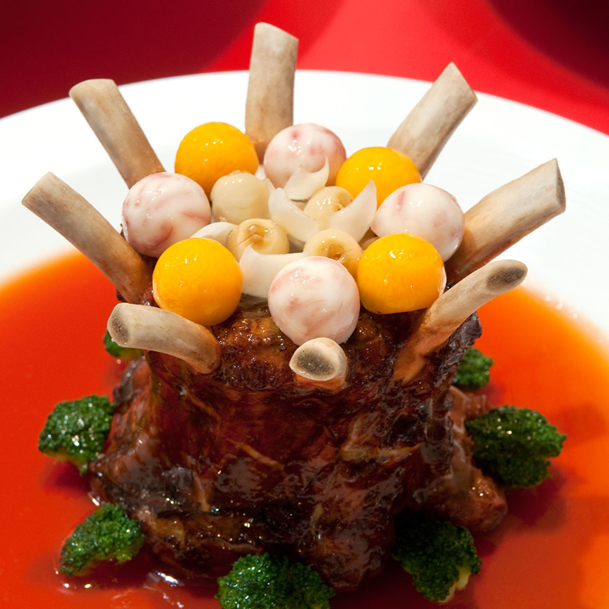 A gourmet ribs dish during a Chinese New Year Reunion Dinner.