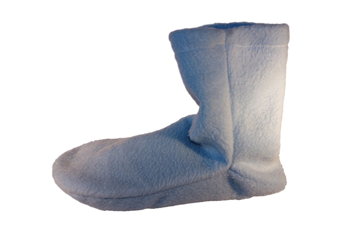 An example of a microwaveable slipper.