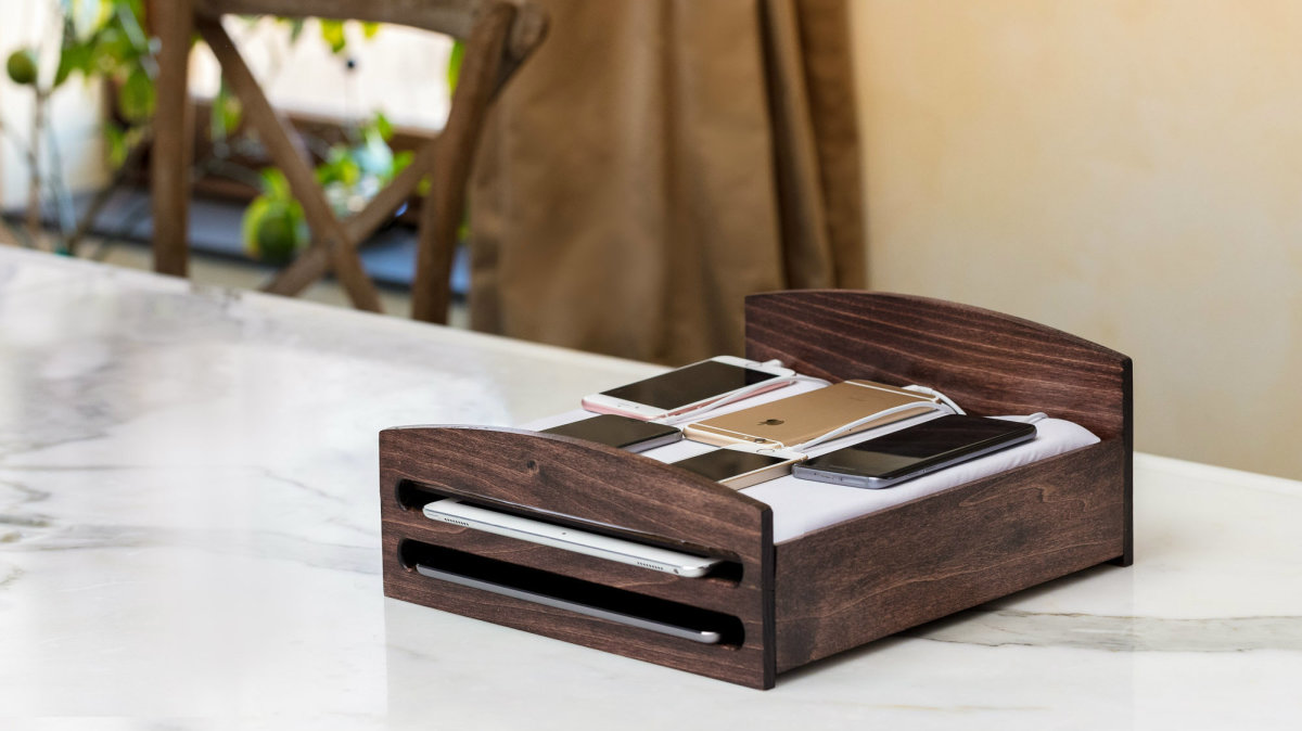 A $100 phone charging station that looks like a bed
