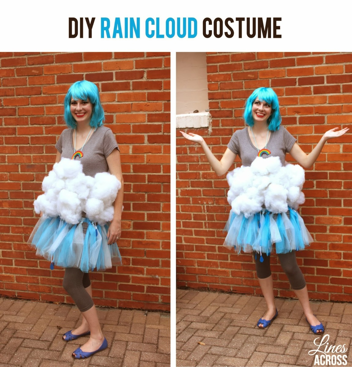 DIY Rain Cloud Tutu Costume