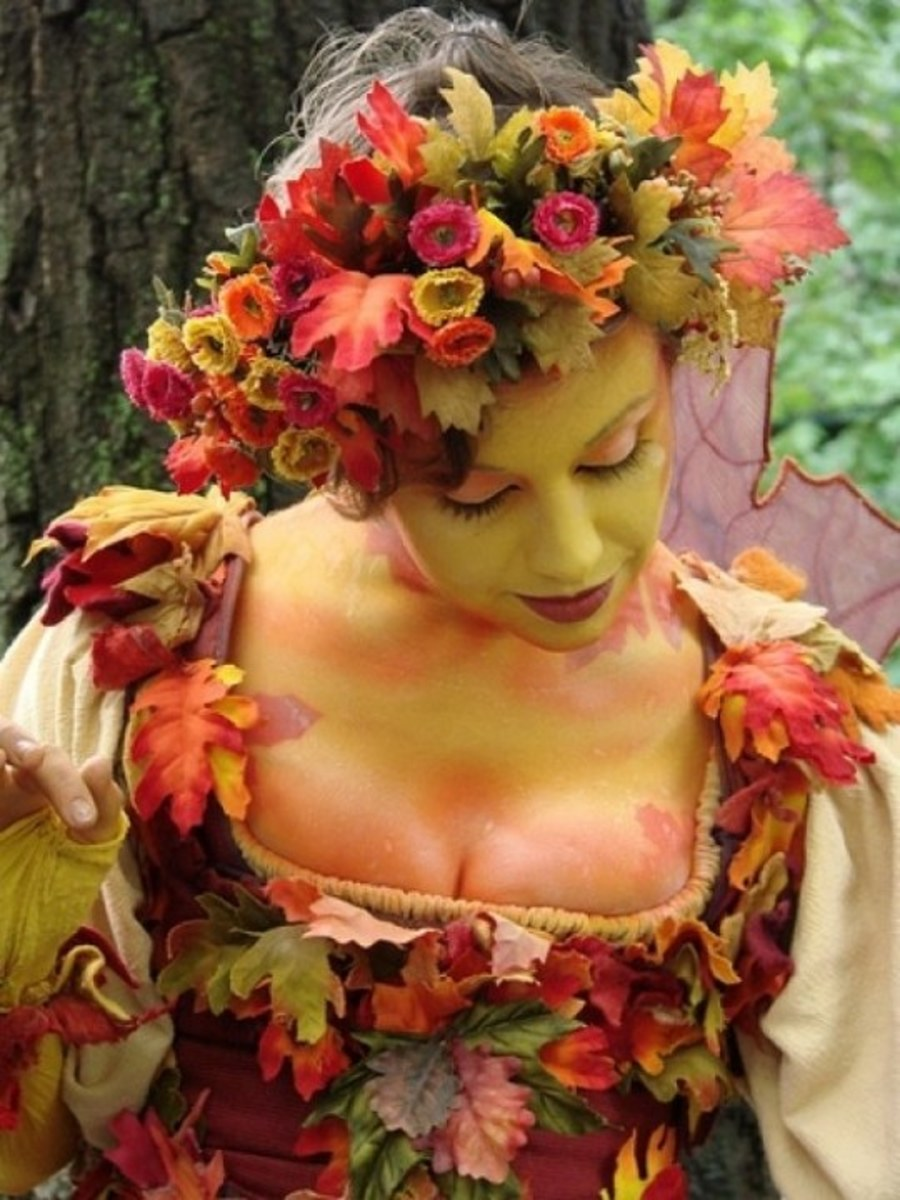 DIY Mother Nature Weather Costume