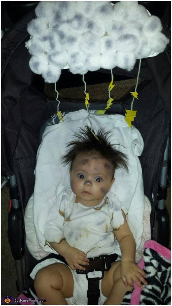 This stroller costume is called Struck by Lightening...and it's a good one!
