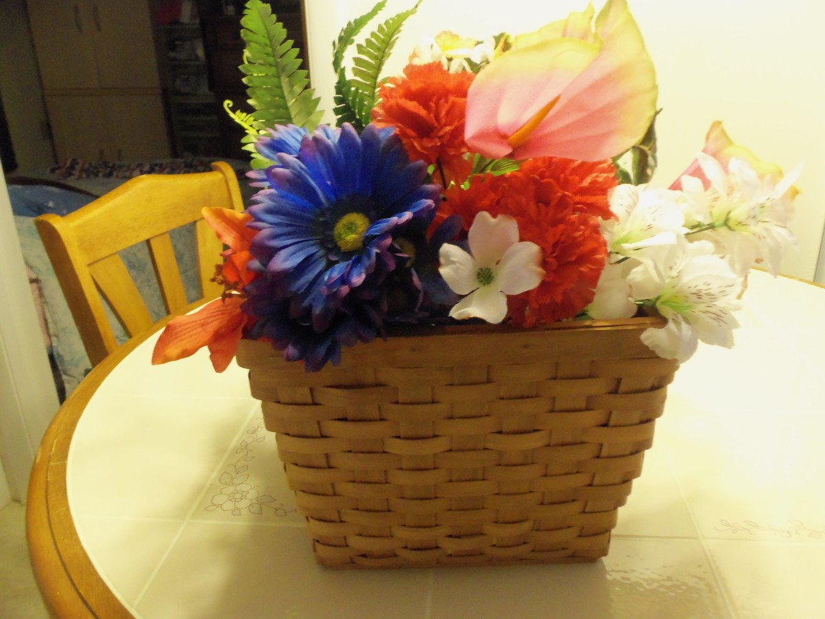#12 Make a Platter or Put Flowers in a Basket.