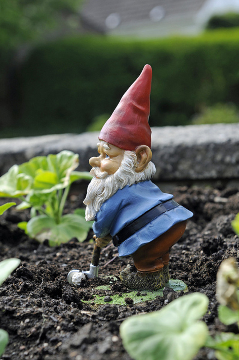 Garden gnomes are classic gifts for gardeners.