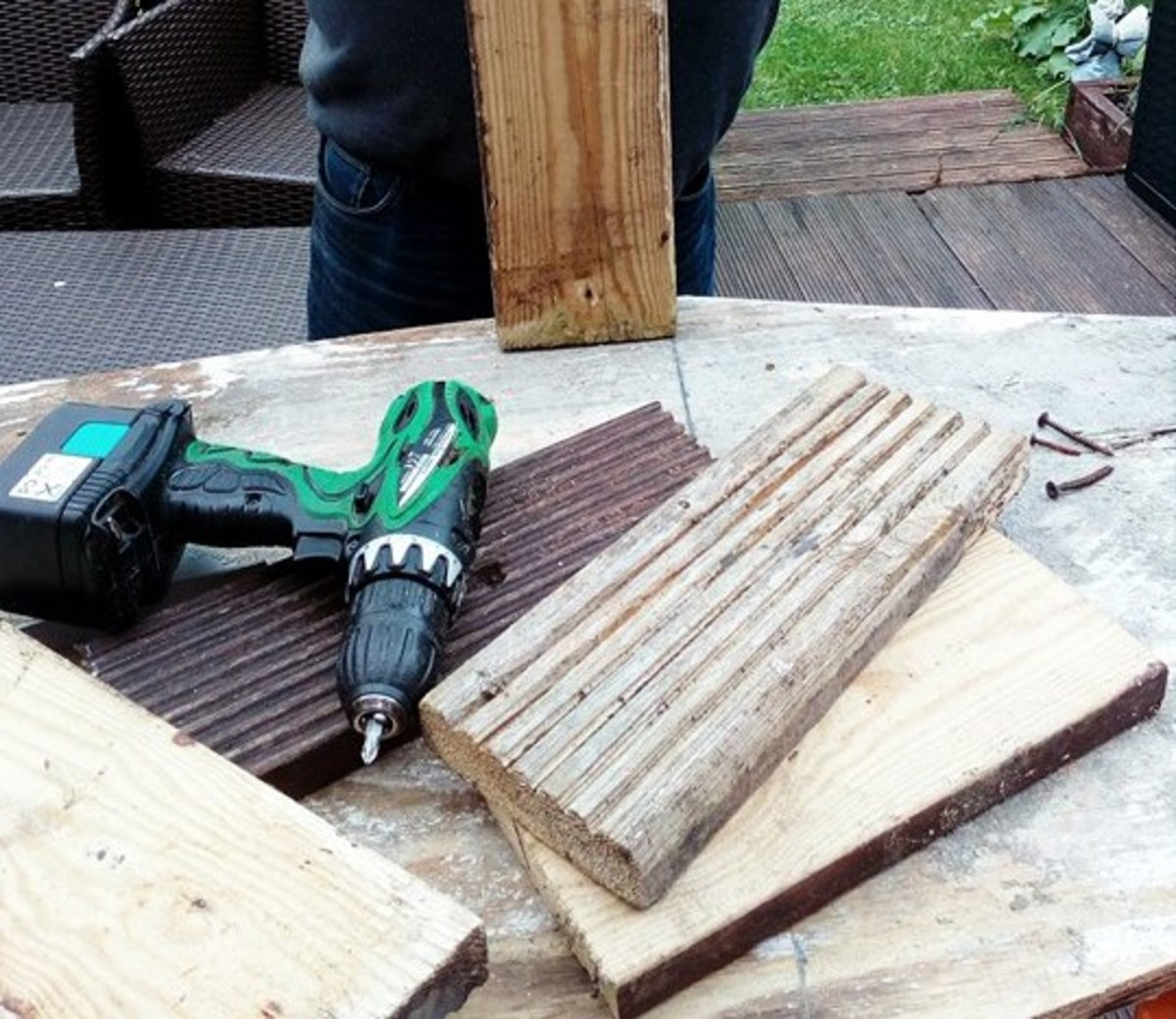 Some of the wood I used to construct my coffin decoration