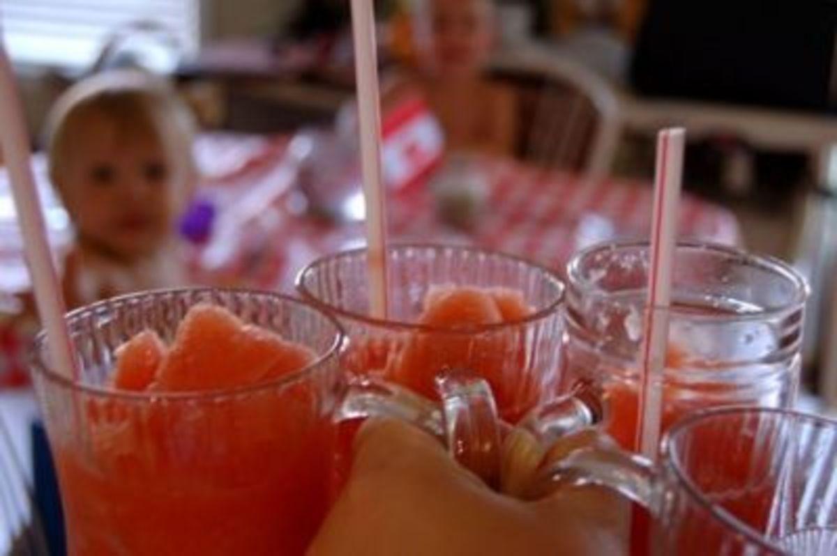 Mmmm....Watermelon Slushies!