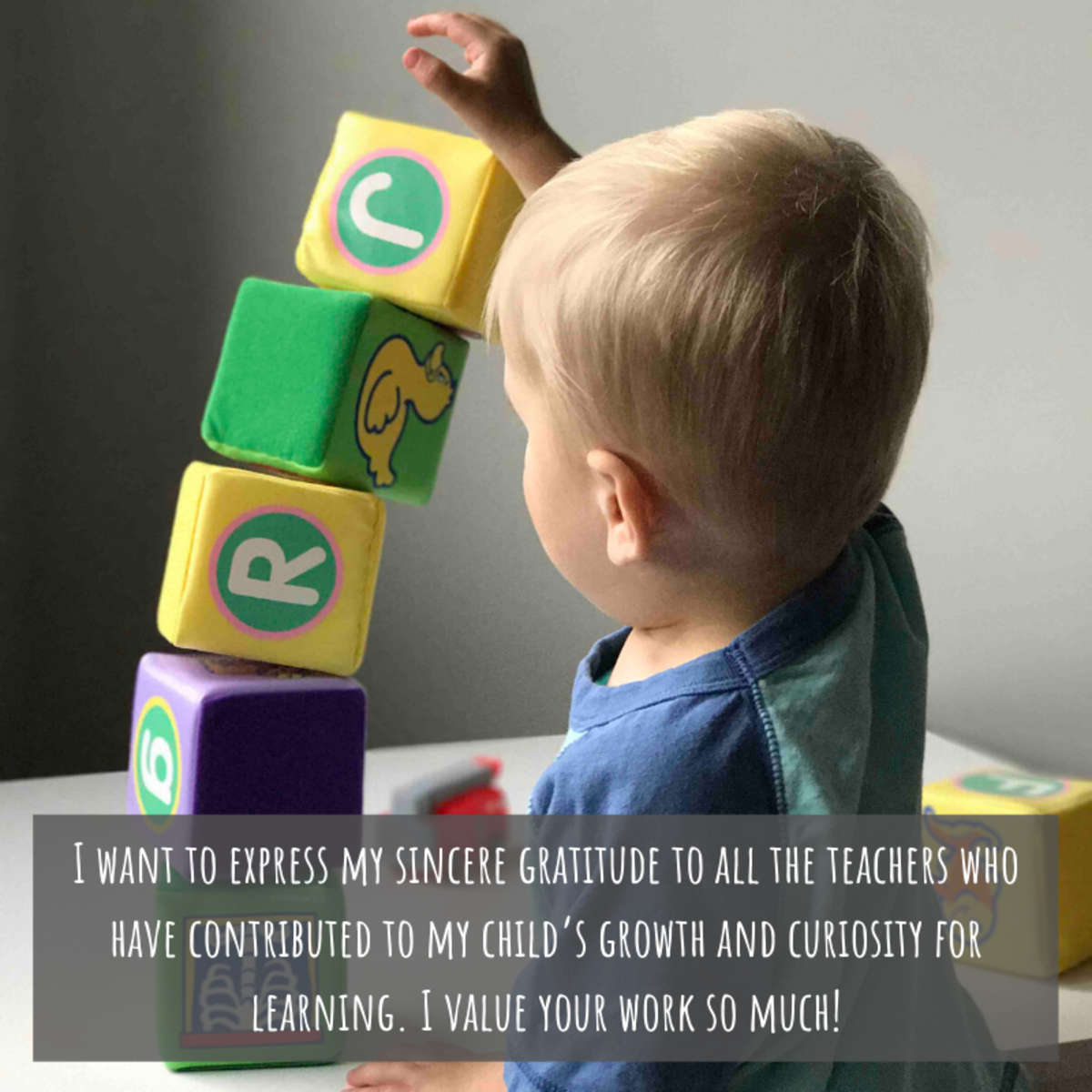 Preschool and kindergarten teachers work so hard. Let them know how much you appreciate the care they provide for your child.