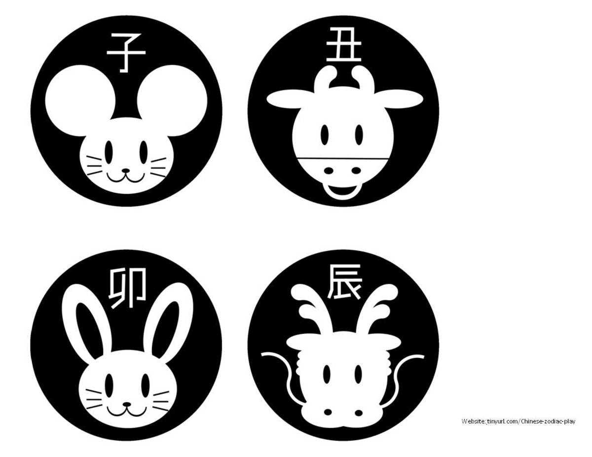 Animals With the Chinese Character Sheet 1. See landscape link below.