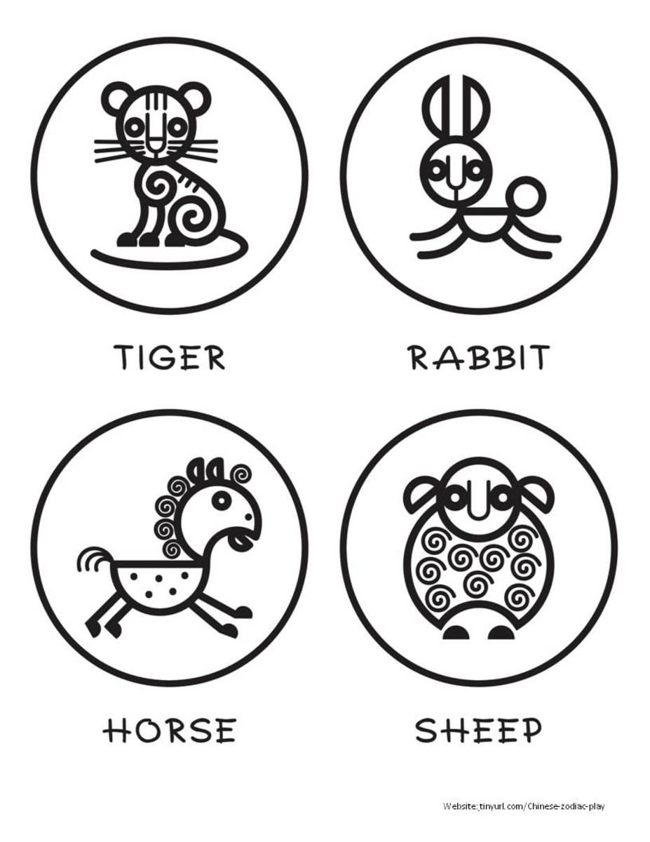 Curlicue Animals Sheet 2 See portrait link below.